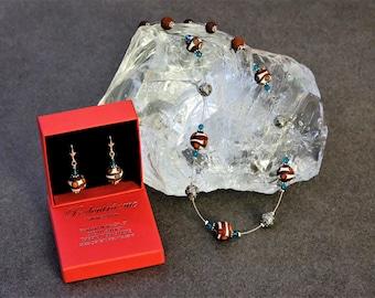 Jewellery set in Murano glass