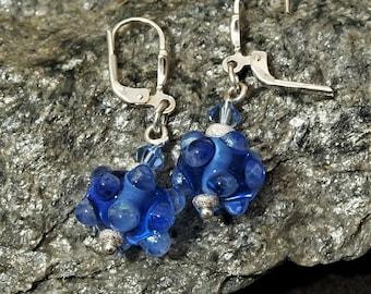 """Earrings """"Blue Dots"""""""