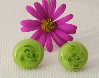 "Ear studs ""Spring Green"""