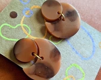Imperfect Tortoise Shell Resin Earrings