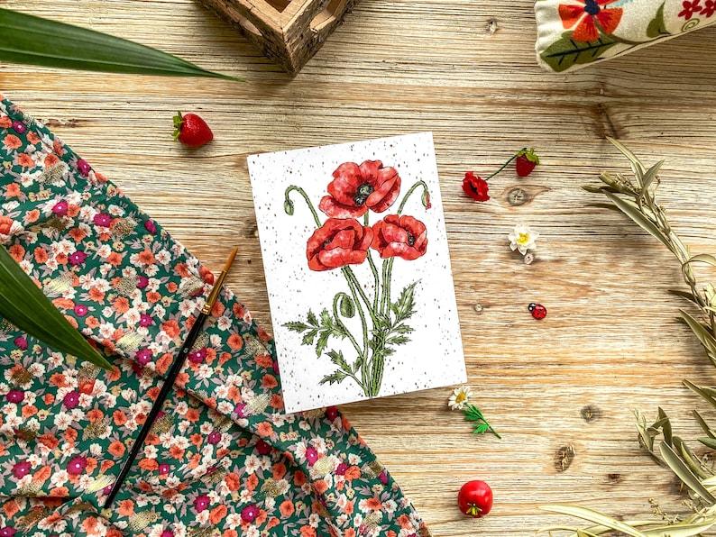 Poppies  postcard  seasonal  summer  poppies  country  image 0