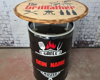 """Custom """"Grillmaster"""" bar table - Personalized"""