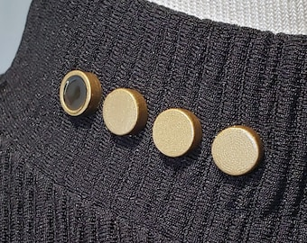 Magnetic Star Trek Rank Pips Set from DS9, TNG, Voyager & Lower Decks, 3D Printed and Hand Painted for Star Trek Cosplay Costume