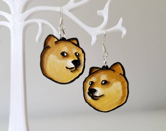 Cheems Dog Meme Earrings
