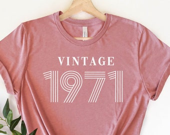 Any Year Neon Hot Pink 40th Birthday Gift Women Men Gift For Husband Or Wife Vintage 1979 Retro 70/'s Unisex Birthday Shirt Tropical Sun