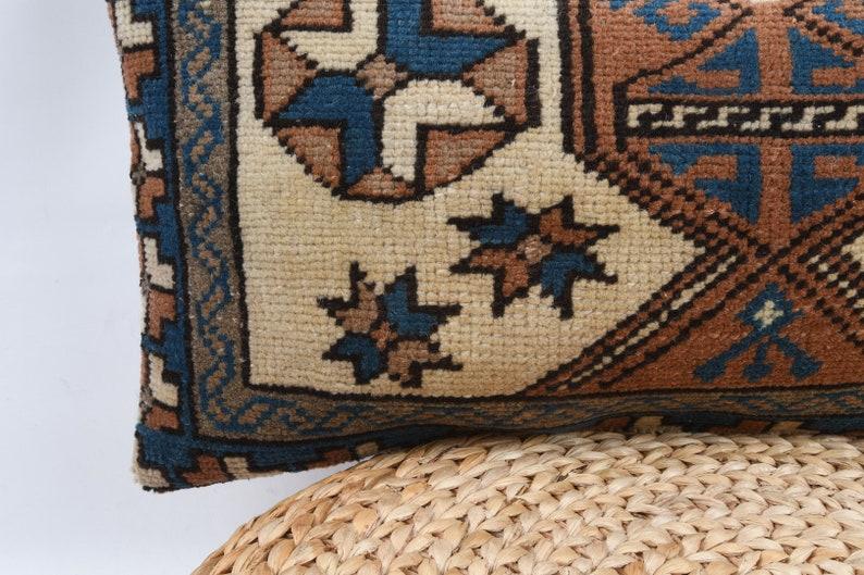 Turkish Carpet Pillow Vintage Kilim Pillow Decorative Pillow Home Decor Cushion Cover Ethnic Kilim Pillow 12x24 Kilim Pillow Pillow