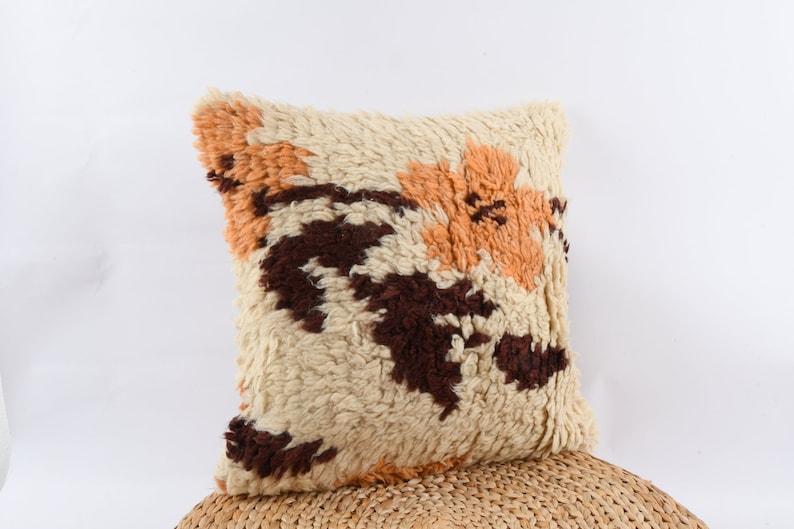 T\u00fcl\u00fc Pillow Textured Pillow 20x20 Kilim Pillow Kilim Cushion Cover Turkish Carpet Pillow Handwoven Decorative Pillow Livingroom Decor