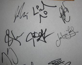 Hamilton Signed Broadway Musical Script X11 Autograph Lin-Manuel Miranda Javier Munoz Christopher Jackson Rory O'Malley Anthony Ramos Grof