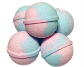 Strawberry Citrus Sizzle Bath Bomb   Bath Bombs  For Kids  Adults  Bath Bombs   Pink and Blue  Bath Bombs with toy