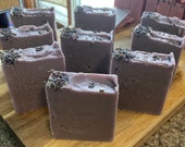 Soothing Lavender Soap, with sprigs of Lavender Soap, Lilac Soap, Easter, Gift Soap, Guest Soap, Handmade Soap
