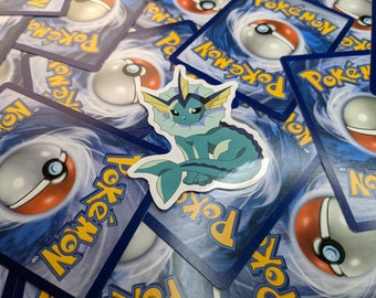 Vaporeon Sticker, Pokemon Decal