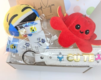 Funny Birthday Box Plush and Stickers, eMood