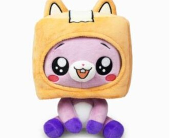 Lankybox Plush Plushie Foxy Boxy Rocky Sticky  Removable Cartoon Robot Soft Toy Plush Children's Gift Turned Into A Doll Girl Bed Pillow
