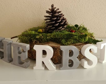 AUTUMN letters for setting up concrete decoration decoration for autumn autumn decoration