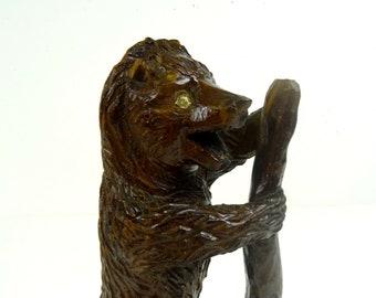 Antique black forest hand carved brinzer bear about 1890 folk art Randcissau
