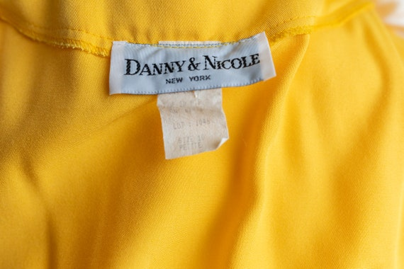Vintage 80s Bright Yellow Button Dress - image 9
