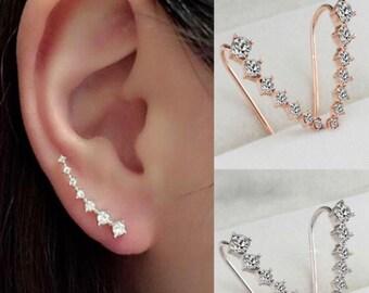 Cubic Earrings Hook Earring Wires 2pcsH001S Hook Cubic Earrings Earring Component Basic Findings Polished Rhodium-Plated CZ Earrings