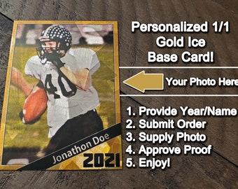 Football Trading Card \u2022 Custom Printed Trading Card \u2022 Personalized Sports Card \u2022 Custom Trading Card \u2022 by @SpecialtyTradingCard