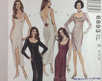 Partially CUT Size 8-10-12 - Misses' Dress in Two Lengths Sewing Pattern - McCalls 6893