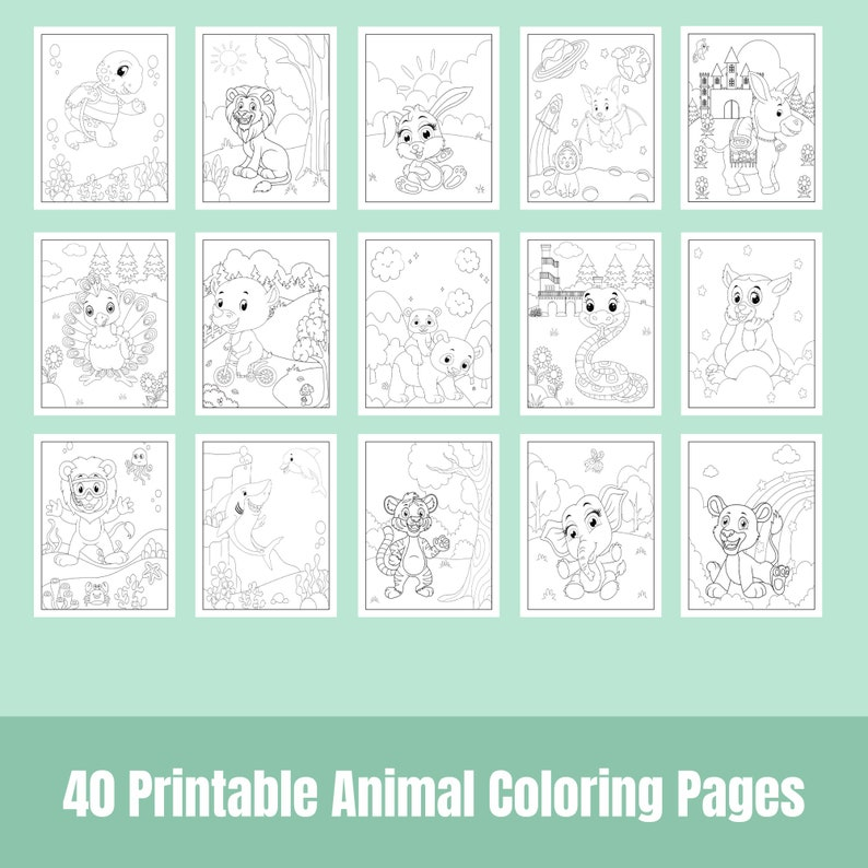 40 Printable Animal Coloring Pages
