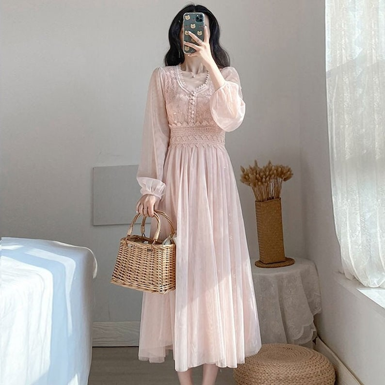 y2k vintage wedding French renaissance cottagecore dress, Daisy Victorian milkmaid lolita nap dress
