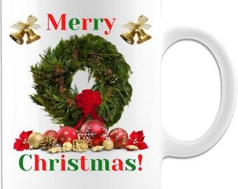 Merry Christmas Holiday Ceramic Coffee Mug Original Gift Idea
