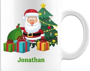 Personalized Name Santa Claus Christmas Coffee Mug Gift