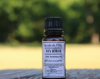 MYRRH ~ anointing oil 15 ml orifice reducer bottle made with 100% natural essential oils and ingredients ~ aceite de ungir