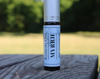 MYRRH ~ anointing oil 10 ml roller bottle made with 100% natural essential oils and ingredients ~ aceite de ungir