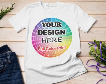 T Shirt Custom Your Photo Text Logo Printing Dtg Personalized Anything Shirts !!
