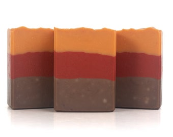 Autumn Vibes Artisan Soap - Cold Process, Handcrafted, Vegan, and Palm Free Unisex Soap Bar