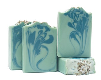 Ancient Sage Artisan Soap - Cold Process, Handcrafted, Small-Batch, Palm-Free Soap Bar. Unisex Scent.