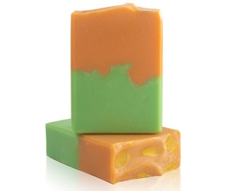 Tropical Sugar Artisan Soap - Cold Process, Handcrafted, Vegan, Palm Free, Body Bar, Unisex Gift