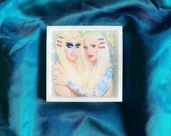 Trixie and Katya Resin TrinketDecorative Tray