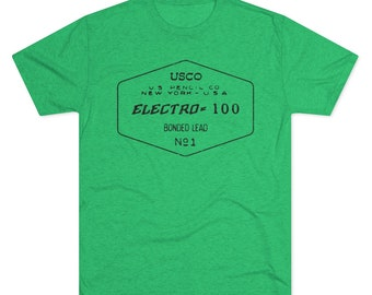 Electro 100 Vintage Pencil Tee (Mens Tri-blend)