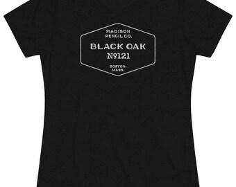 Black Oak Vintage Pencil Tee (Womens Tri-blend)