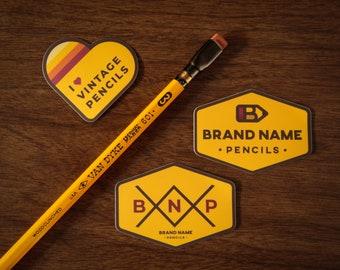 Three (3) Vintage Pencil Stickers