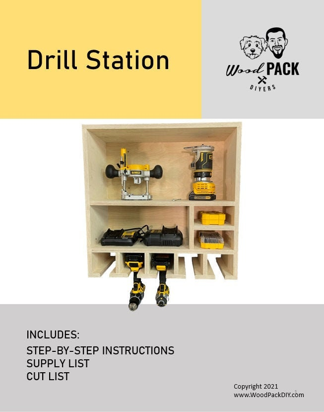 Drill Storage and Charging Station Plan