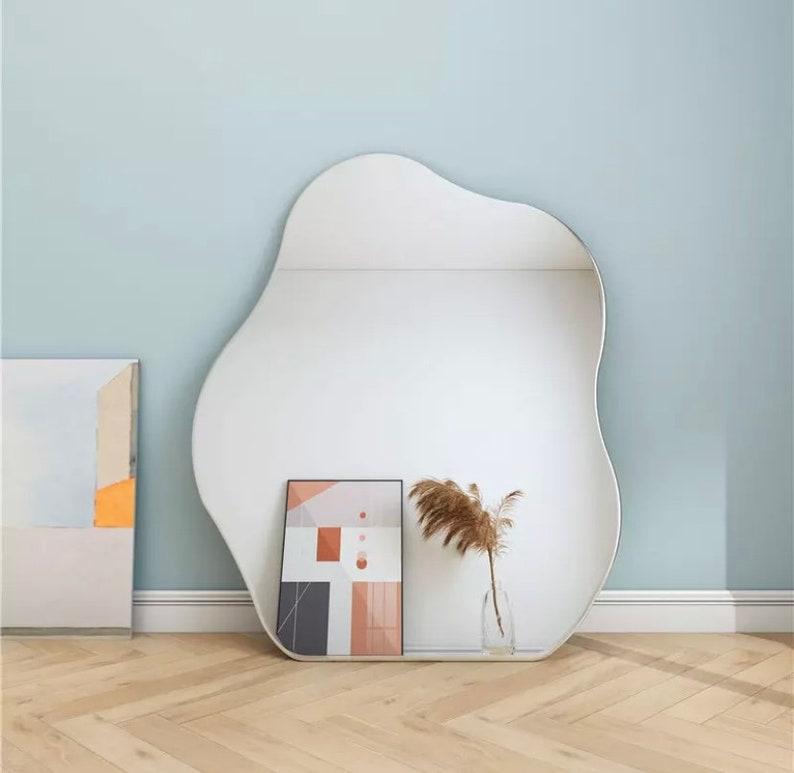 Pond mirror asymmetrical mirror irregular shape mirror image 3