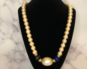 Vintage Chunky Bead Statement Necklace