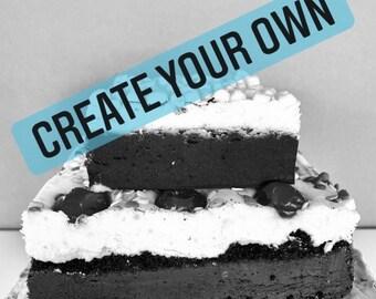 Create Your Own Fudge Cake