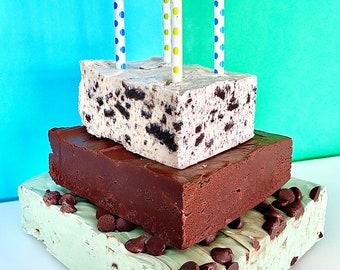 Mint Cookie Fudge Cake