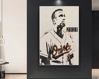 Gift Canvas Art Baseball Poster Kids Decor Wall Art Baltimore Orioles Man Cave Sports Art Print Cal Ripken Jr Canvas Print