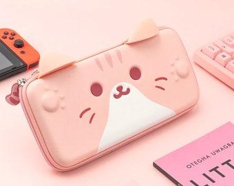 Kawaii Cat Nintendo Switch Bag - Cute Kitty Nintendo Switch Case