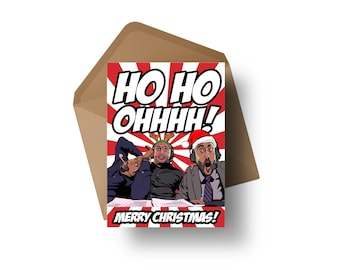 "UFC Commentators - DC, Joe Rogan & Jon Anik   7x5"" Christmas Greeting Card"