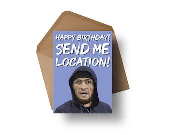 "UFC Fighter - Khabib Nurmagomedov | 7x5"" Birthday Greeting Card"