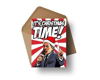 "UFC Announcer - Bruce Buffer | 7x5"" Christmas Greeting Card"