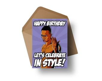 "UFC Fighter - Israel Adesanya   7x5"" Birthday Greeting Card"