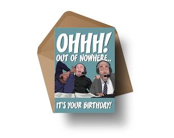 "UFC Commentators - DC, Joe Rogan & Jon Anik | 7x5"" Birthday Greeting Card"