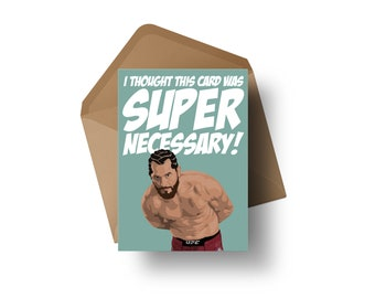 "UFC Fighter - Jorge Masvidal | 7x5"" Greeting Card"